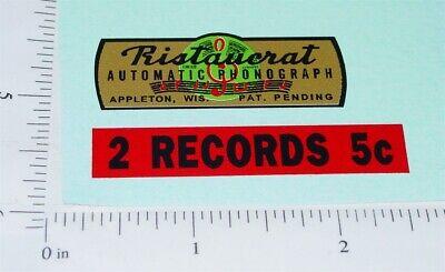 Ristaucrat Automatic Phonegraph Replacement Vending Sticker V-81