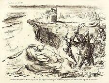 MAX SLEVOGT - XERXES ERGRIMMTE ... - Lithografie 1916