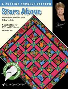 Stars-Above-Quilt-pattern-Cozy-Quilt-Designs-A-cutting-corners-pattern