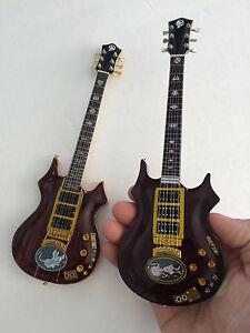 set of two 2 grateful dead jerry garcia rosebud tiger mini guitars ebay. Black Bedroom Furniture Sets. Home Design Ideas