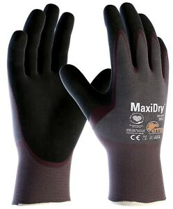 12 x MaxiDry 56-424 Palm Coated Nitrile Foam palm coated Safety Working Gloves