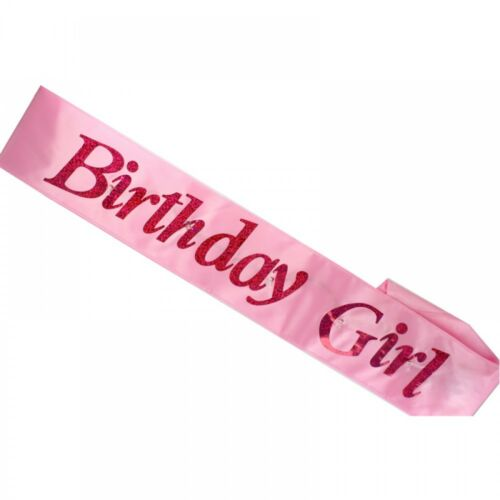 Pink Flashing Birthday Girl Adults Party Sash