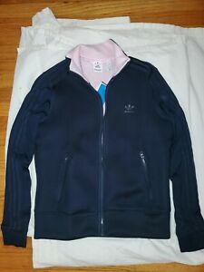 Escándalo desconocido Fuerza motriz  Adidas Firebird TT track jacket women navy blue & Pink lining size small |  eBay