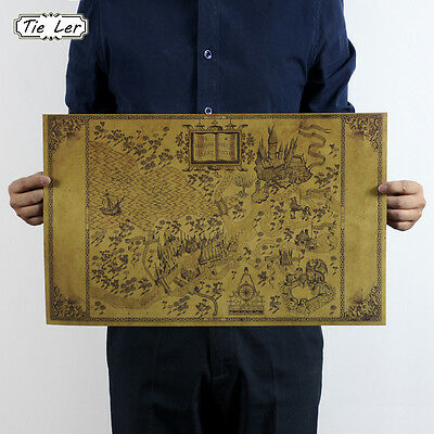 Map of The Wizarding World of Harry Potter Movie Wall Stickers 33*51CM