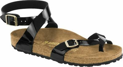 Birkenstock Zehensteg Sandale Yara BF Patent black Gr. 35 43 1005163 1005164   eBay