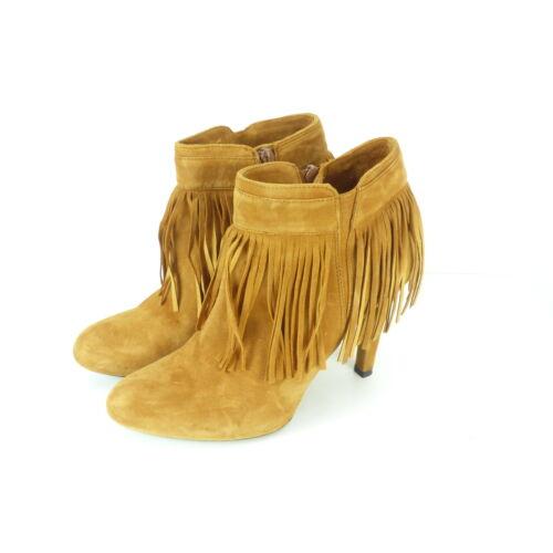 EUR 38 UNISA Stiefelette Ankle Boots Fransen Leder Braun Gr