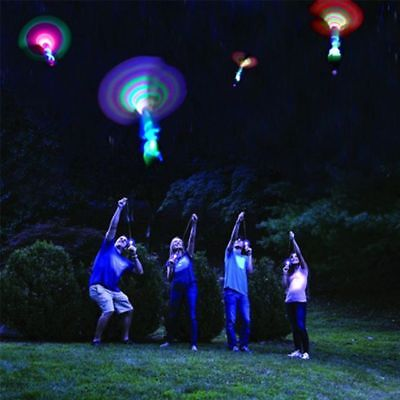 Salt N Light Rocket Copters Slingshot LED Helicopter Toy for Kids and Adults