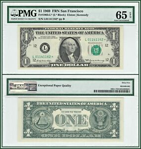 1969-Star-1-San-Francisco-Federal-Reserve-Note-PMG-65-EPQ-Gem-Unc-FRN-Dollar
