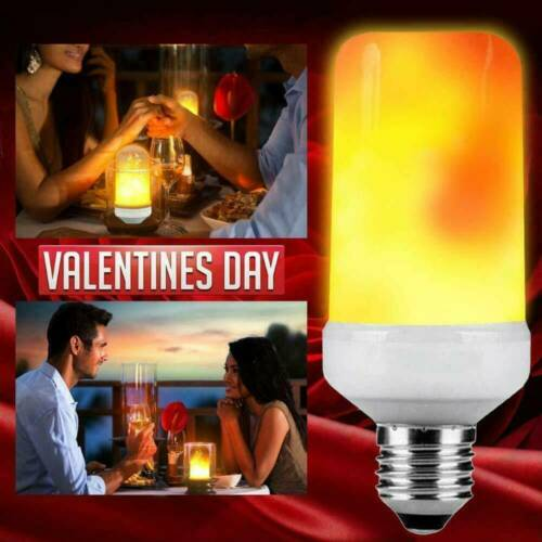 LED E27 4 Mode Flicker Flame Light Bulb Simulated Burning Fire Effect Party Lamp