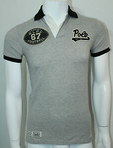 Polo Ralph Lauren Custom-Fit Football Polo Pointe Gray Size XS NWT ... e0fe5b6842ab