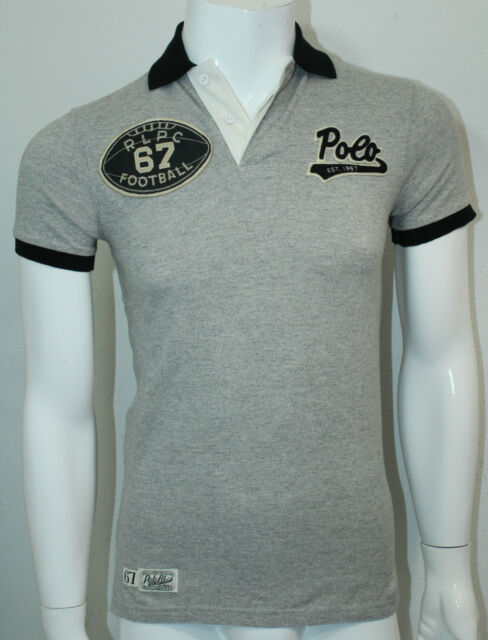 Heather Polo Size Xs Ralph Lauren Shirt Gray Mens Rugby Custom Fit dWrCxBeo