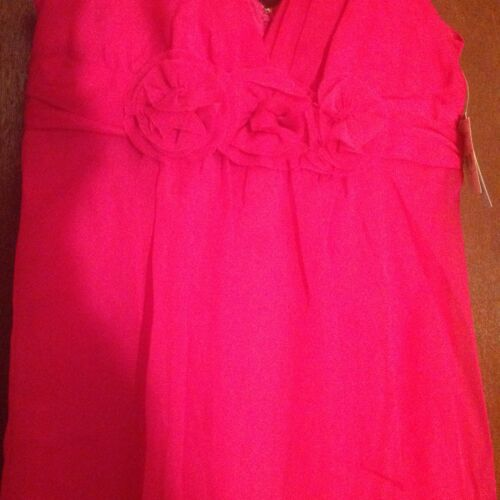 Details about  /Cute Short Frilly Bright Pink Formal Dress Size 8 ..Hot Pink