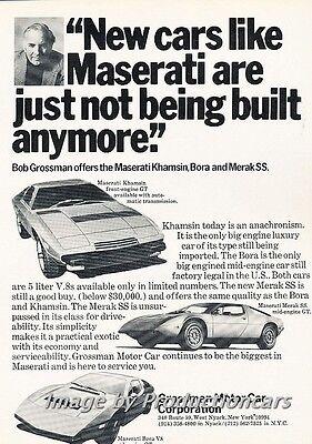 Built 1978 Maserati Khamsin Merak Bora Classic Vintage Advertisement Ad D82