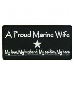 Proud MARINE Wife Patch