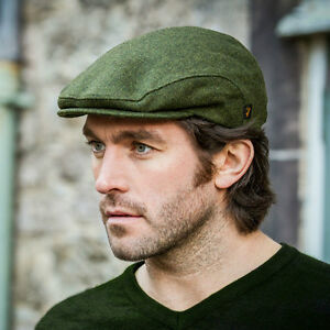 Tweed Flat Cap - Green - Men s Irish Wool Hat by Mucros Weavers ... 0bfc9fc62f7