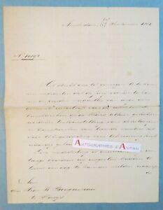 L-A-S-1865-Jan-Messchert-van-Vollenhoven-AMSTERDAM-au-peintre-BOUGUEREAU-lettre