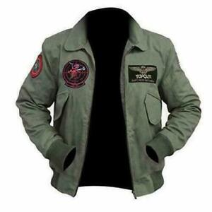 Details zu TOP GUN 2 MAVERICK MENS JET PILOT JACKET TOM CRUISE FLIGHT BOMBER JACKET XXS 4XL