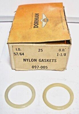 Qty 4 Dorman 57//64/'/' Nylon Drain Plug Gasket 097-005