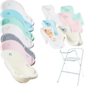 Baby-Badewanne-mit-Staender-1-4-Set-Babybadewanne-Gestell-Badesitz-Wanne