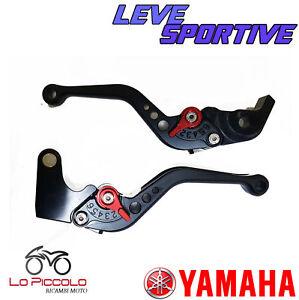 Paar-Leve-Bremse-Kupplung-Kurz-Verstellbar-Schwarz-Yamaha-YZF-R1-1000-2006-2007