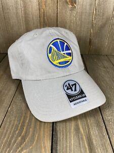 Golden State Warriors NBA Basketball 47 Brand Khaki Adjustable Strapback Hat Cap