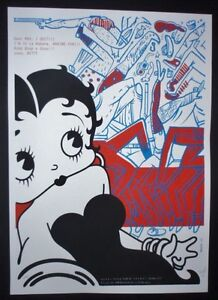 BETTY-BOOP-Signed-Cuban-Screenprint-Poster-Saluting-US-Cuba-Relations-COMICS-ART