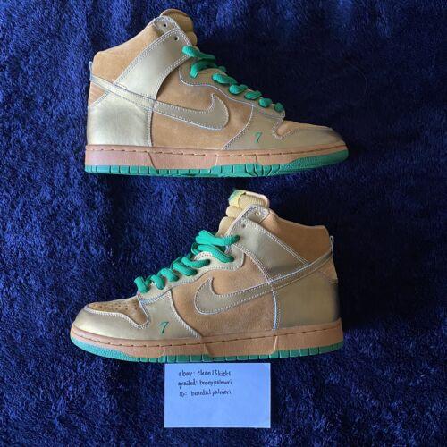 "Rare 2004 Nike SB Dunk High ""Lucky"" 305050 771 US"