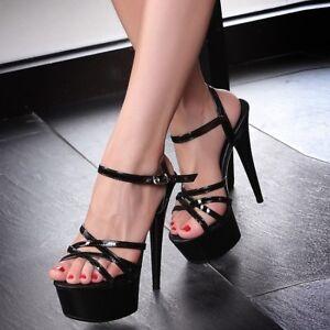 cute cheap best selling shop best sellers Women's Super Stiletto High Heel Platform Sandals Sexy Strappy ...