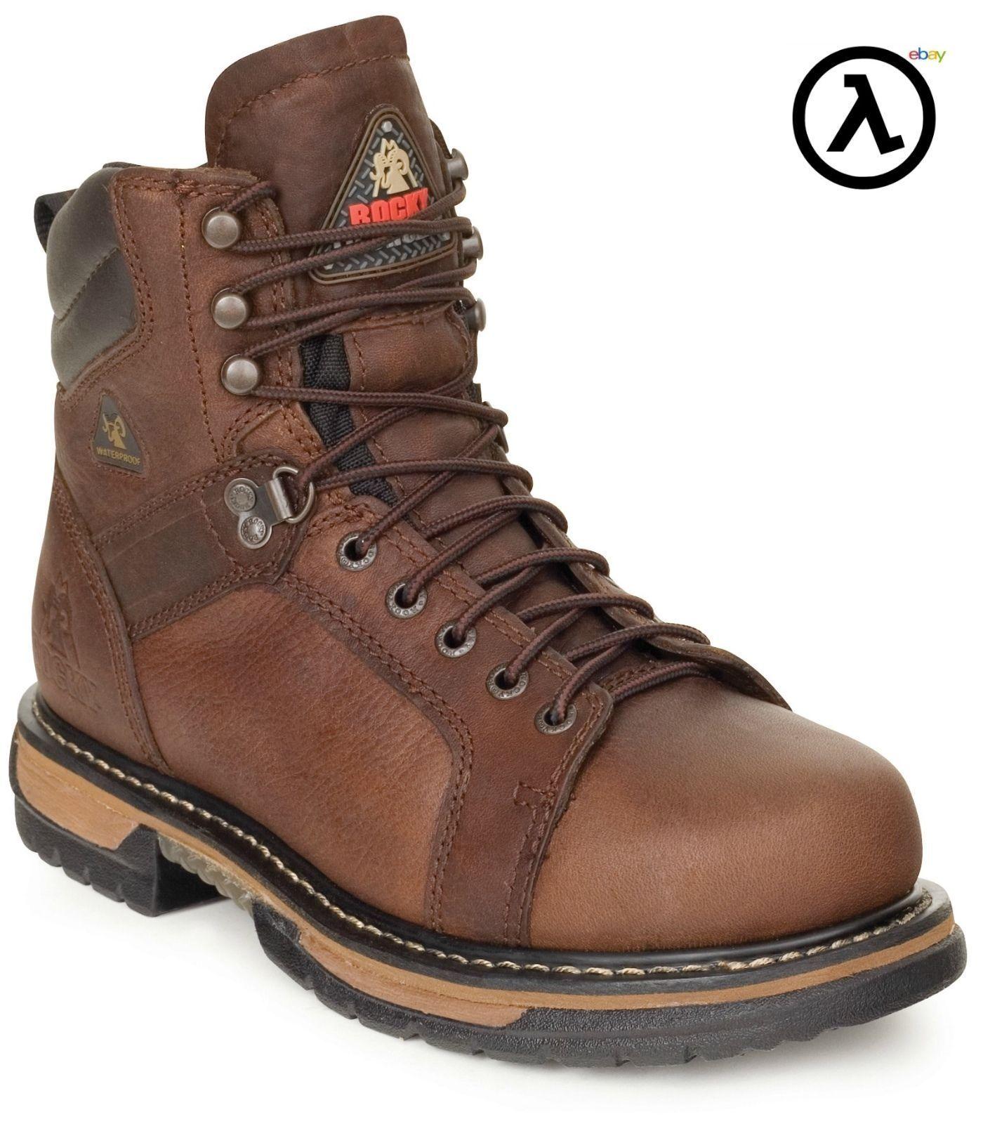 ROCKY IRONCLAD Impermeable Encaje Punta botas de trabajo FQ0005703  a todos los tamaños-NUEVO