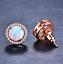 1 Paire Femme Fashion Or Rose Blanc Opale de feu charme Stud Boucle D/'Oreille Nouveau ! ! !
