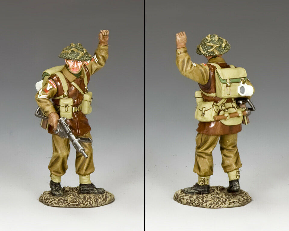 King & Country Battle Of The Bulge Bbb007 Británico Ssilver Signalling Parada