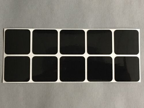 ORALITE® 10 Stück reflektierende Aufkleber Reflektor Quadrat schwarz 30 x 30 mm