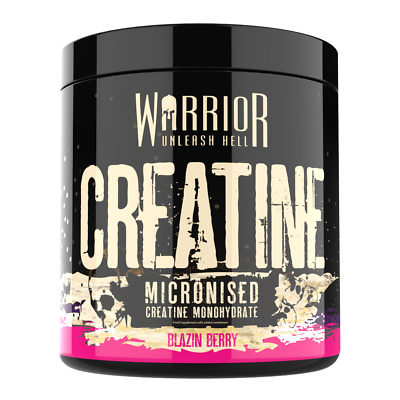 Warrior Creatine Monohydrate Powder 300g Micronized 60 Servings - Blazin Berry