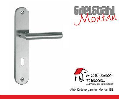 Langschild Edelstahl Türdrücker  Türklinke Montan BB