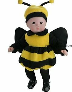 Bumble Bee Halloween Costme for American Girl Dolls Wellie Wishers
