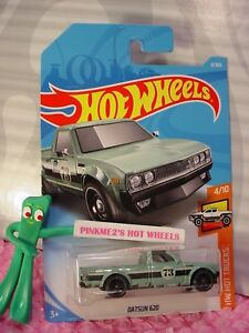 DATSUN 620 pick up truck #9 Green; 73 HW HOT TRUCKS 2018 i ...