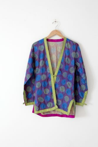 Vintage embroidered kimono jacket reversible size M