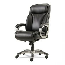 High Back Leather Executive Chair Black Or Brown Coil Spring Seat Veon Series