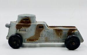 Vintage-decada-de-1930-Tootsie-Toy-4635-U-S-Army-Armored-Car-preguerra-Metal-Fundido-a-Troquel