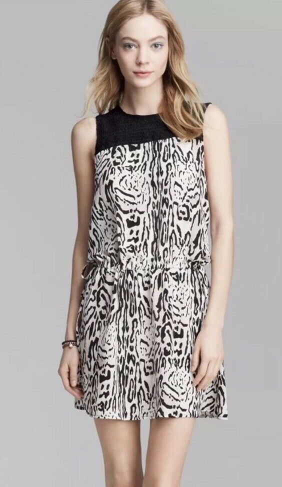 308.00 NWT JOIE Floreal Silk Dress Size L NEW