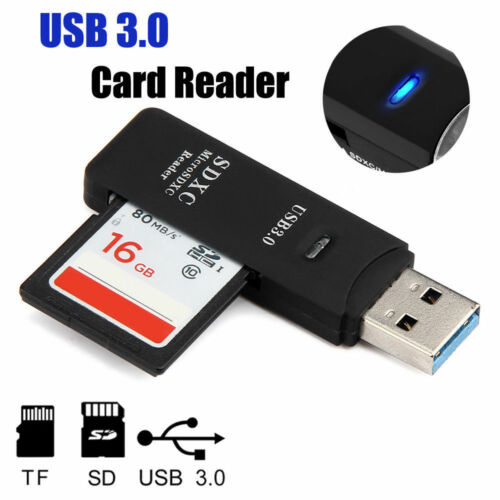 2in1 Super Speed USB 3.0 Memory Card Reader Adapter for Micro SD SDXC TF Card