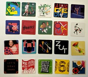 20-x-World-Cup-Designer-Beer-Mats-20-Unique-Coasters-Featuring-Iconic-Moments