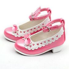 122# Pink 1/4 Cute Bow White Decoration BJD LOLI MSD DOD LUTS AOD Dollfie Shoes