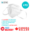thumbnail 1 - 4 PCS Disposable KN95 Mask CE CERTIFIED 5 Ply Fast Shipping from Canada