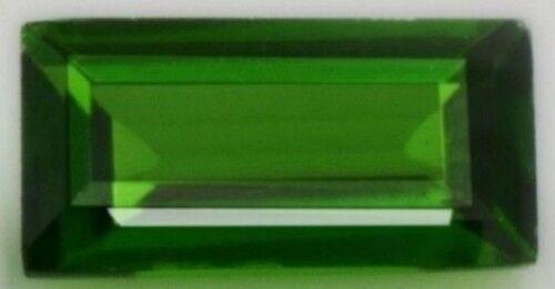 GREEN TOPAZ 9 x 7 MM BAGUETTE CUT VVS BEAUTIFUL COLOR