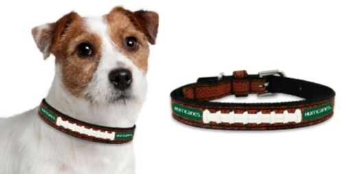 Officially Licensed University of Miami Hurricanes Classic Football Leather Dog