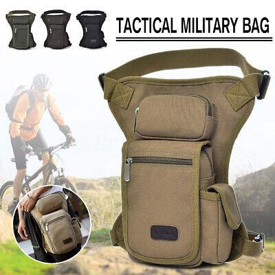 Men Bum Thigh Waist Pack Rider Motorcycle Tactical Military Drop Leg Storage Bag