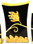 """thumbnail 11 - Judy Shelly Three Vase Set Roosters on Branches Black Gold Rare 9.75"""" Tall"""