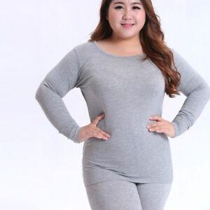 756812158 Details about Women Cotton Blend Thermal Underwear Tops Pants Set Long  Johns Plus Size Pajama
