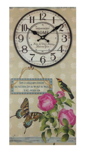 Wall Clock holzuhr 60 cm High kitchen clock Modern Paris Nostalgia Design XXL